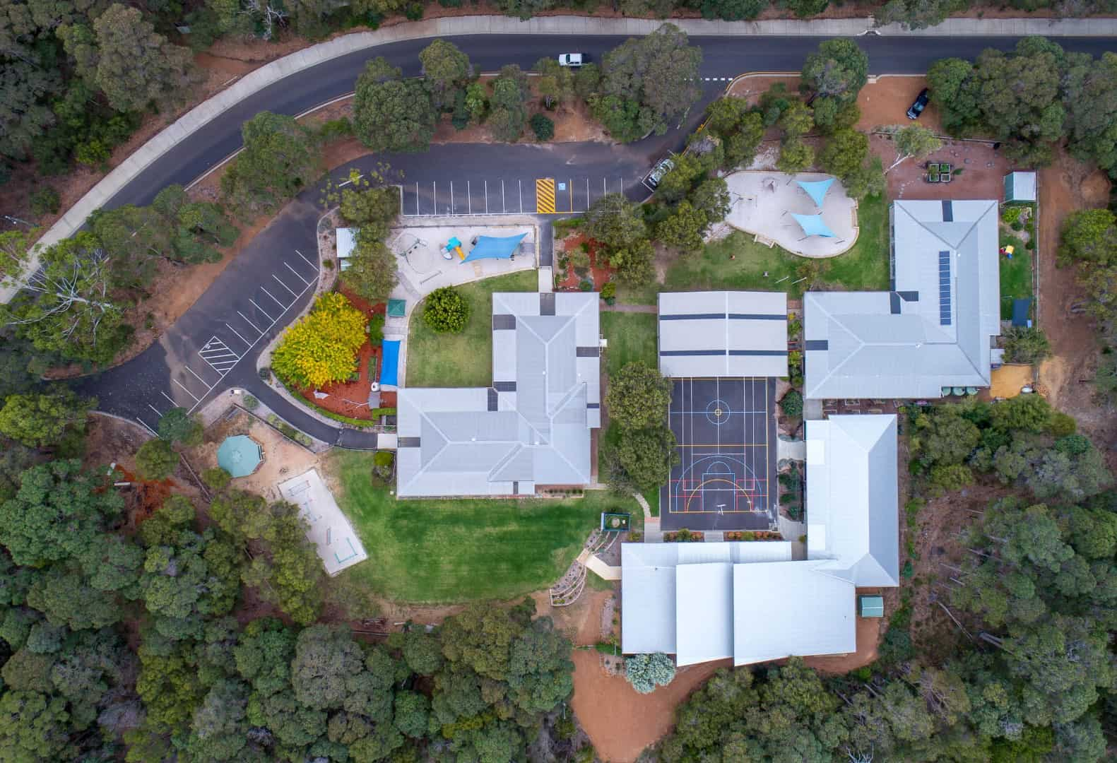 aerial view of Montessori School in Margaret River